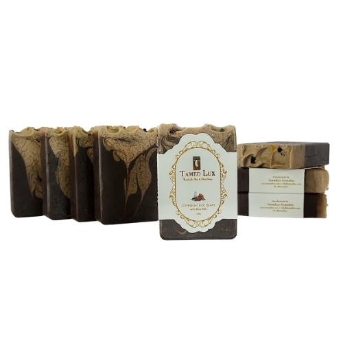 Coffee and Chocolate With Rice Milk Organic Bar Soap