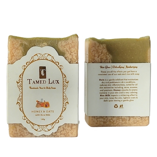 Honey and Oats With Rice Milk Organic Bar Soap
