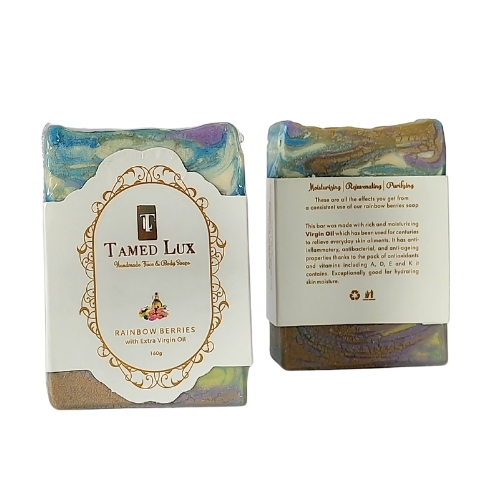 Rainbow Berries With Extra Virgin Oil Organic Bar Soap