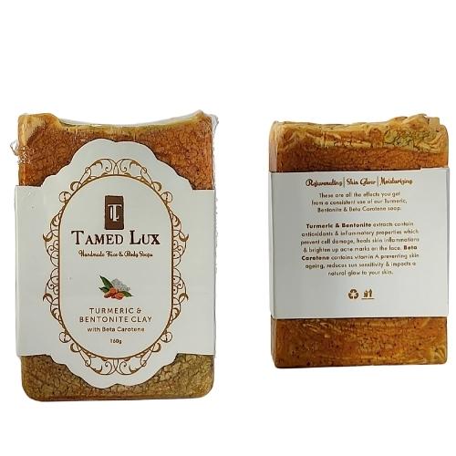 Turmeric and Bentonite Clay With Beta Carotene Organic Bar Soap